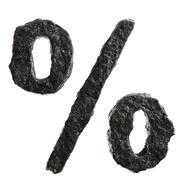 Coal font Stock Illustration