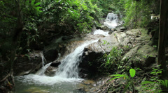 Kathu waterfall located in Kathu district in Phuket island Stock Footage