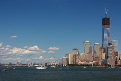 New York Harbor Scene - stock photo