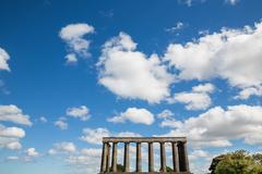The unfinished National Monument - stock photo