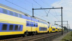 Train passing Stock Footage