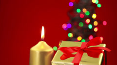 Christmas background scene with copy space Stock Footage
