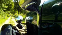 Ford Model A 1929 POV EX Country - stock footage