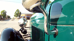 Ford Model A 1929 POV EX Downtown Stock Footage