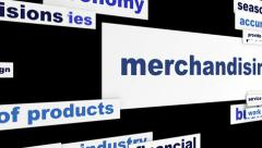 Merchandising business message hd animation Stock Footage