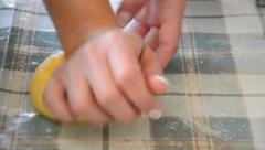 Hd: preparing traditional italian food, making a dough - stock video. Stock Footage