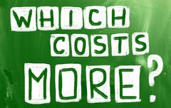 Which costs more? Stock Illustration