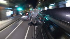 Driving Timelapse In City At Night Stock Footage