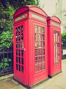 Stock Photo of vintage look london telephone box
