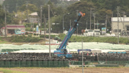 Stock Video Footage of Piles of radioactive soil near Fukushima