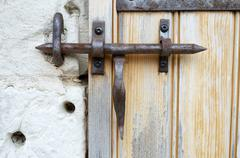 Wrought iron lock Stock Photos