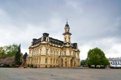 Stock Photo of neo-renaissance town hall in nowy sacz, poland