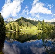 Little alpine lake in Austria Stock Photos