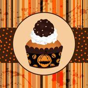 halloween invitation - stock illustration