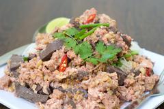 Thai food name MEE KATI Stock Photos