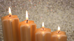 holiday advent candles - stock footage