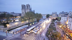 Notre Dame cathedral Paris France Stock Footage