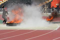 Fire applied sport Stock Photos