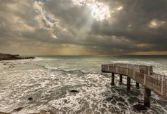 Sunray seascape 2 Stock Photos