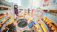 Buyers are visit shops in shopping center Afimall Stock Footage