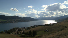 Okanagan Lake, north arm near Vernon, early autumn afternoon Stock Footage