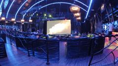 People enjoying the music in Izvestia Hall Bar Stock Footage