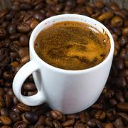 cup full of coffee - stock photo