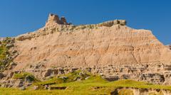 Badlands escarpment in the summer Stock Photos