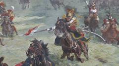 The Panorama, Waterloo battlefield, Belgium. Stock Footage