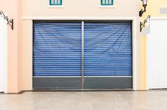 Blank metal shutter door Stock Photos