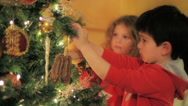 Stock Video Footage of Decorating a Christmas tree 2