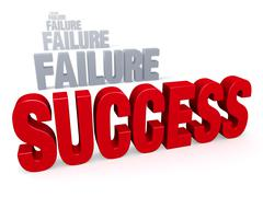 Stock Illustration of success after failure