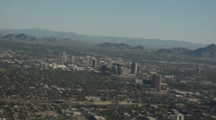 Phoenix, Arizona buisness district aerial view Stock Footage
