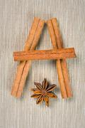 cinnamon, cloves and anise - stock photo