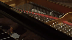 Detail of piano chords during a performance Stock Footage