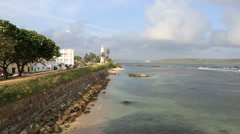 Indian Ocean and Galle Fort time lapse Stock Footage