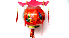 Lantern, a toy of Asia child Stock Footage