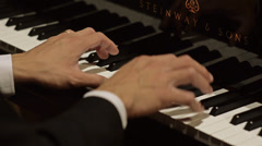 Close-up of hands play piano different shot Stock Footage