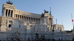 Car Traffic Monument Vittorio Emanuele II Piazza Venezia in Rome, Italy day Stock Footage