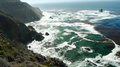Mountains Meet Ocean Stock Footage