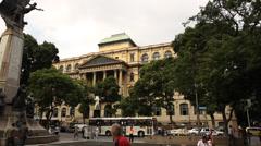 National library Rio de janeiro Stock Footage