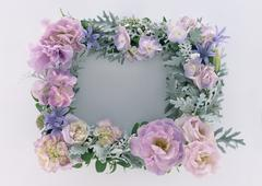 Frame of Flower - stock photo