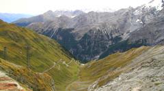 Italy Stelvio Pass Stock Footage