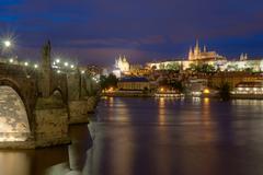 Prague landmark Charles Bridge Stock Photos