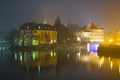 Wroclaw in the night, poland Stock Photos