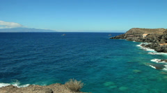Between two islands La Gomera and Tenerife. Canary islands. Spain. Stock Footage