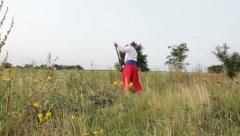 Mower ( haymaker ) Stock Footage