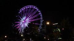 Ferris Wheel In Downtown Atlanta Stock Footage