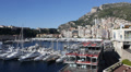Establishing Shot Principality Port Skyline La Condamine Monaco Ville Boat Ships Footage