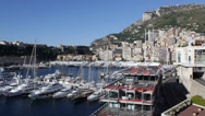 Stock Video Footage of Principality of Monaco Skyline, La Condamine, Famous Monaco-Ville French Riviera